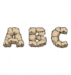 Stone alphabet abc vector