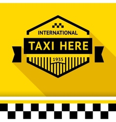 Taxi badge 14 vector