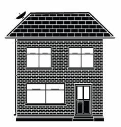 basic house vector image