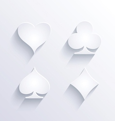 Card game icons with shadow vector image