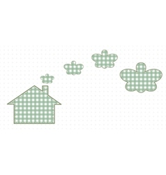 House and smoke resembling butterflies Cute Baby vector image