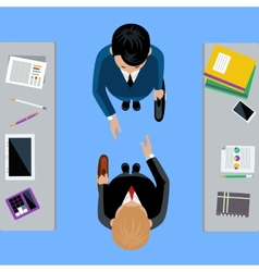 Businessmen on business meeting vector image