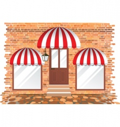 Retail building vector