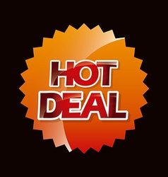 hot deal vector image