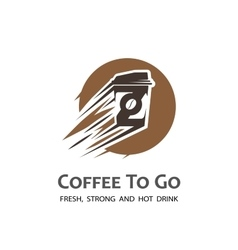 Coffee to go label vector