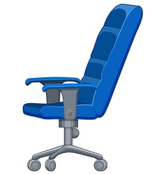 Office chair in blue color vector