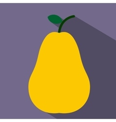 Pear flat icon vector