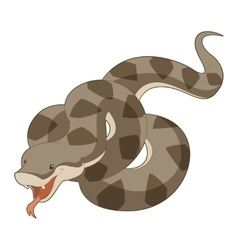 Cartoon smiling viper vector