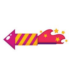 Birthday flapper or firework petard design vector
