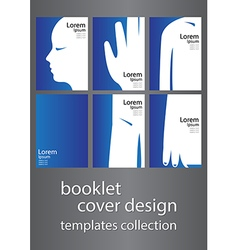 booklet cover design templates collection vector image vector image