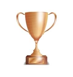 Bronze trophy cup winner concept award design vector