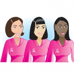 cancer women vector image