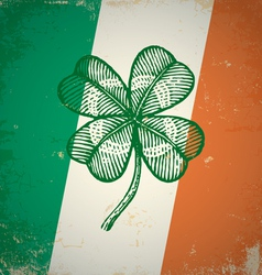 clover irish grunge vector image