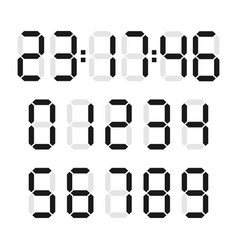 digital number set vector image