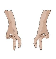 Fingers walk vector