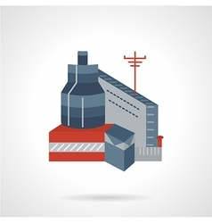 Flat icon industrial building vector image