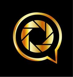Golden photography logo vector image vector image