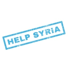 Help Syria Rubber Stamp vector image vector image
