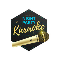karaoke party label vector image vector image