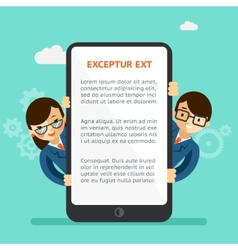 Mobile app presentation vector image vector image