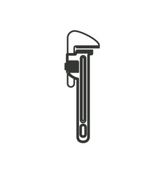 Monochrome silhouette with pipe wrench vector