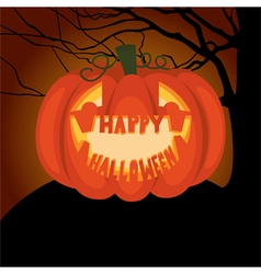Poster Halloween night vector image