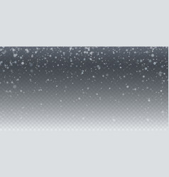 realistic falling snow isolated on transparent vector image