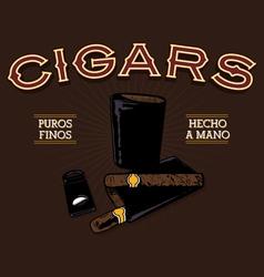 Retro cigar ad vector