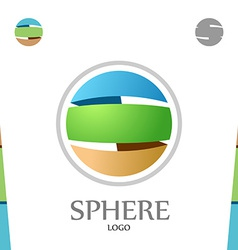S letter logo template abstract sphere globe with vector