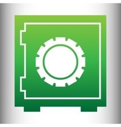 Safe icon green gradient icon vector