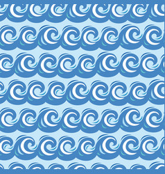 sea wave pattern seamless vector image