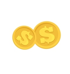 Set of cash paper money and coins vector