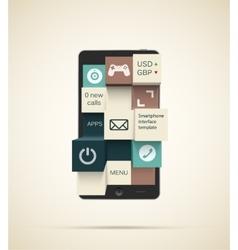 Smartphone apps background vector