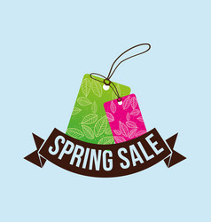Spring sale tag price shopping concept vector