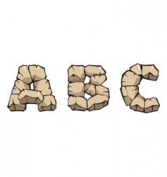 stone alphabet abc vector image