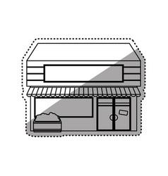 store shop building vector image vector image