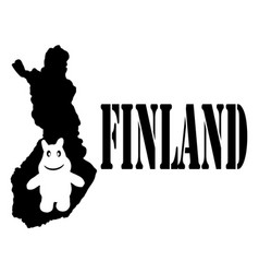 Symbol of finland and map vector