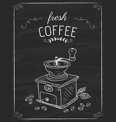 the coffee grinder doodle vector image vector image