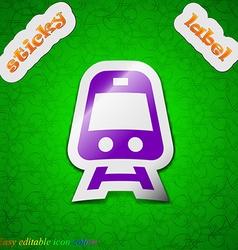 Train icon sign symbol chic colored sticky label vector