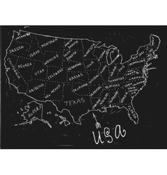 USA Hand Drawn Map 01 A vector image