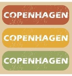 Vintage copenhagen stamp set vector