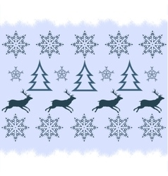 winter sweater design - deer snowflake and vector image vector image
