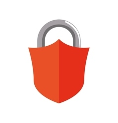 Padlock shield security system protection icon vector