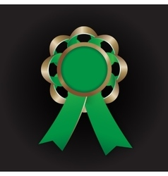 Realistic bronze award with reb bow and vector