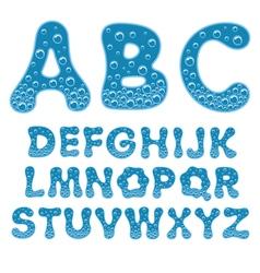 Alphabet of soda water vector