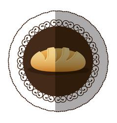 emblem color nomal bread icon vector image