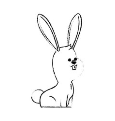Rabbit or bunny cute animal cartoon icon image vector