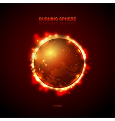 Abstract burning fire planet vector