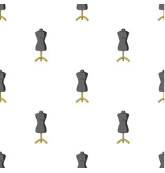 Plastic dummy on the standsewing or tailoring vector