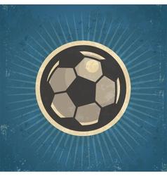 Retro soccer ball vector